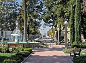 The Plaza in Orange, California: my hometown. This park is in the center of intersection of Chapman and Glassell Streets and is the heart of downtown Orange.