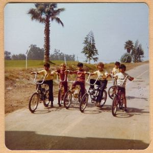 On the Santa Ana River trail in Orange, CA. Around 1973 or '74. Reminiscent of the movie
