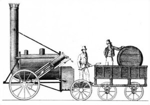 The first steam locomotive